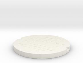 manhole cover in White Natural Versatile Plastic