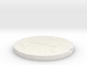 manhole cover Gotham 2 in White Natural Versatile Plastic