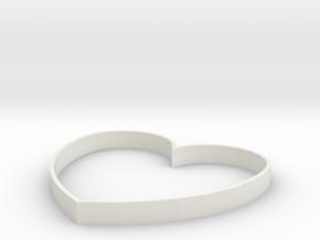 Heart Design in White Natural Versatile Plastic