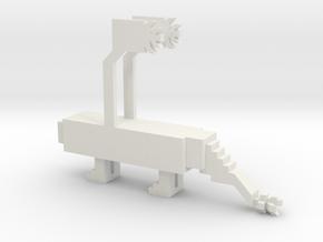 Bubbie's Dragon in White Natural Versatile Plastic