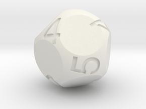Dual D3 in White Natural Versatile Plastic