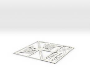 Picture Frame (Single Right) in White Natural Versatile Plastic