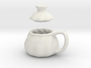 Soup Filled Dumpling Mug in White Natural Versatile Plastic