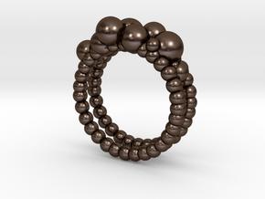 Double Bubble in Polished Bronze Steel