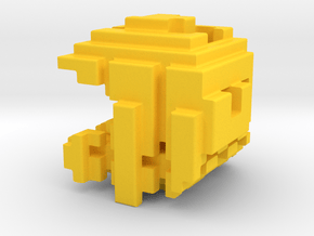 Pacman Cubed, Small in Yellow Processed Versatile Plastic
