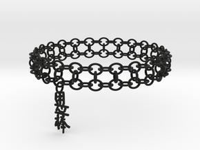 3in Yojimbo Kanji Bracelet in Black Natural Versatile Plastic