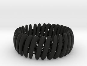 2.6in x .9in TwinSpiral Trap in Black Natural Versatile Plastic