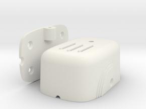 Art-Deco L-Pad Volume Control Housing in White Natural Versatile Plastic