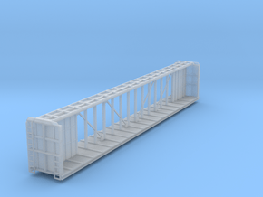 Z Scale Centerbeam Flat Car in Smooth Fine Detail Plastic