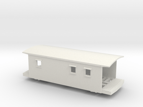 2011 VGN Caboose w/platform planks, window notches in White Natural Versatile Plastic