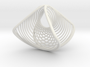Wearables | ring | concave convex | size K in White Natural Versatile Plastic