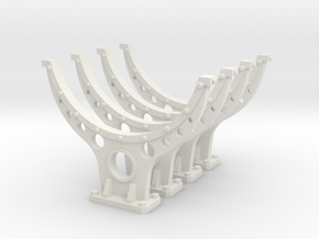 1 Inch Pipe Support in White Natural Versatile Plastic