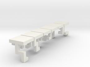 Lock Cube 1 in White Natural Versatile Plastic