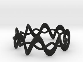 DMT Wrap Ring in Black Natural Versatile Plastic