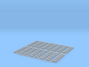 Check Rail Chairs 1.02mm Eight Pack in Smooth Fine Detail Plastic