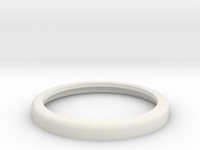 30mm Rolled Shoulder base, no insides in White Natural Versatile Plastic