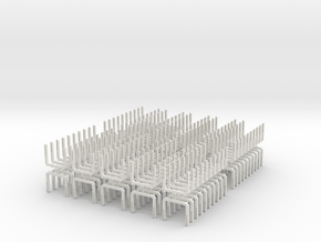 HO Scale Log Bunk V2.0 200 Pack in White Natural Versatile Plastic