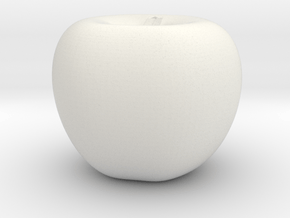Parametric Surface Apple in White Natural Versatile Plastic