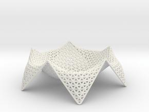 starfish fruit bowl - 12 in White Natural Versatile Plastic