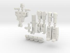 """""""Truncheon"""" Gunslinger figure - Version 2 in White Natural Versatile Plastic"""