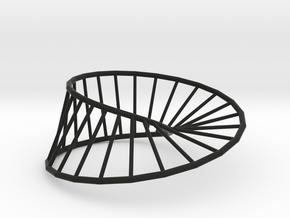 Moebius Line | Napkin Ring in Black Natural Versatile Plastic