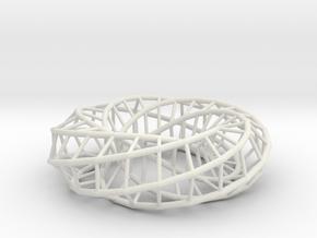 Moebius hexagon | Napkin Ring in White Natural Versatile Plastic