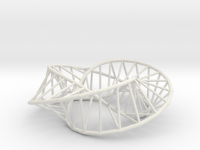 Moebius Triangle | Napkin Ring in White Natural Versatile Plastic