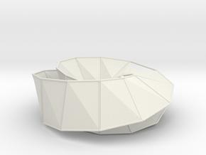 Möbius Line | Napkin Ring | double knot in White Natural Versatile Plastic