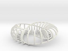 Moebius Arc | Napkin Ring in White Natural Versatile Plastic