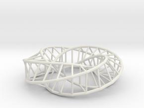 Moebius Square | Napkin Ring in White Natural Versatile Plastic