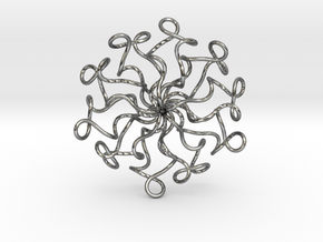 Curly Knot in Polished Silver