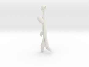 Hanging Man -v2a SideHand in White Natural Versatile Plastic