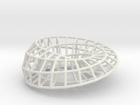 Moebius Ellipse | Napkin Ring in White Natural Versatile Plastic