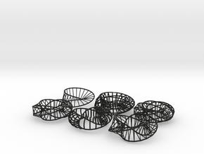 Moebius Napkins - 6 variations in Black Natural Versatile Plastic