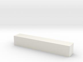 Block 2x2x12 in White Natural Versatile Plastic