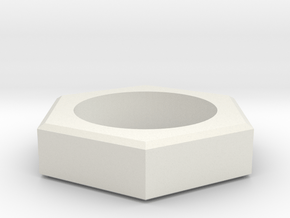 sechskomma3 in White Natural Versatile Plastic