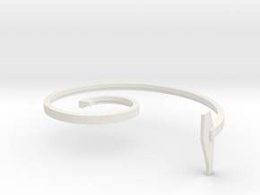 mold part, top,  vehicle spring, 3.0 mm in White Natural Versatile Plastic