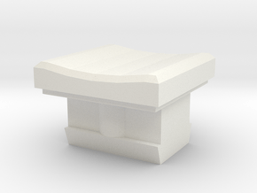 Buttom in White Natural Versatile Plastic