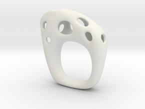 Burnt Ring 5 in White Natural Versatile Plastic