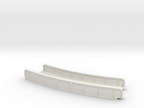CURVED 220mm 30° SINGLE TRACK VIADUCT in White Natural Versatile Plastic
