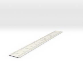 Addressing Ruler in White Natural Versatile Plastic