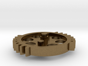 DSG - dual sector gear 2/3 scale keychain/necklace in Natural Bronze