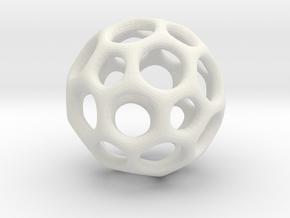 Soccerball frame - 3.1 cm in White Natural Versatile Plastic