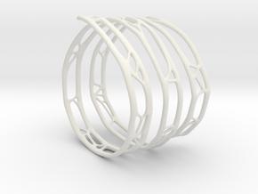 The Organic Bracelet in White Natural Versatile Plastic
