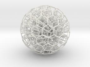 nestedSpheres in White Natural Versatile Plastic