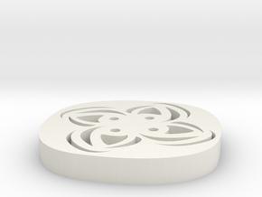 4 Hole Square Flower Button 13/16 in White Natural Versatile Plastic