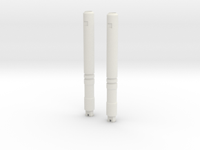 Sunlink - Assailment Barrel Cannons in White Natural Versatile Plastic