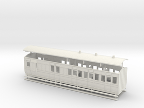 5.5mm scale LBER Brake Third Coach in White Natural Versatile Plastic