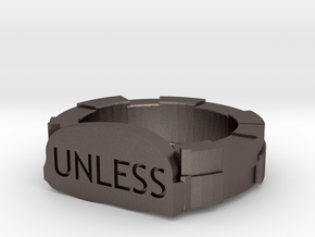 unless ring size 8 5 in Polished Bronzed Silver Steel