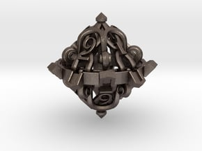 D10 in Polished Bronzed Silver Steel